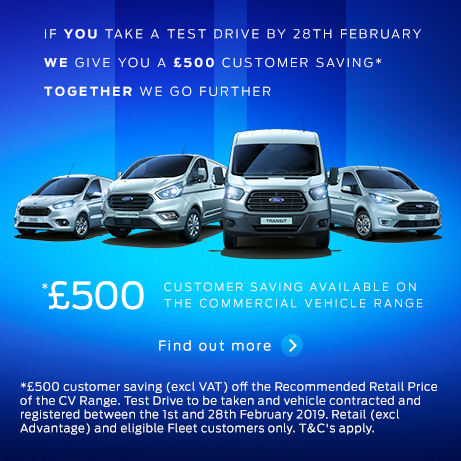 Ford Transit Custom Test Drive Event February 2019