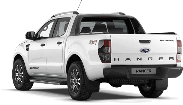 Ranger Wildtrak Frozen White Rear