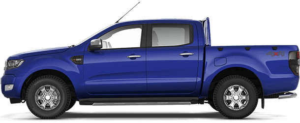 Ranger XLT Double Cab Performance Blue Side