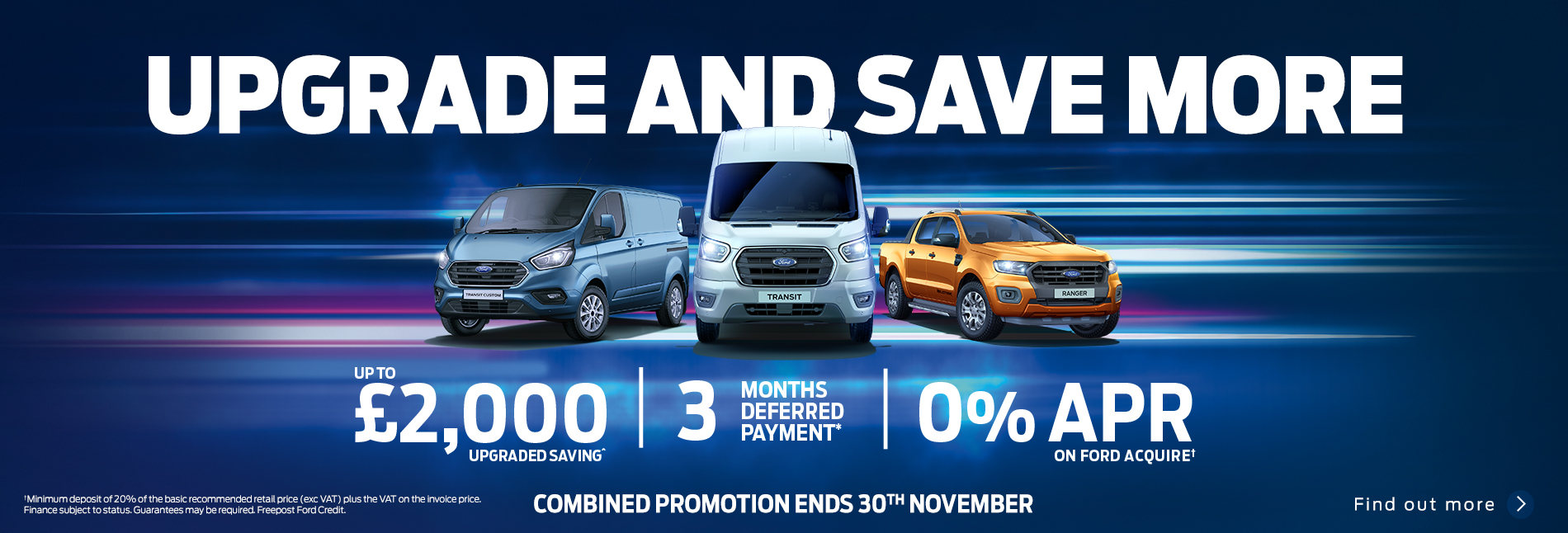 Ford Upgrade & Save More Event November 2020