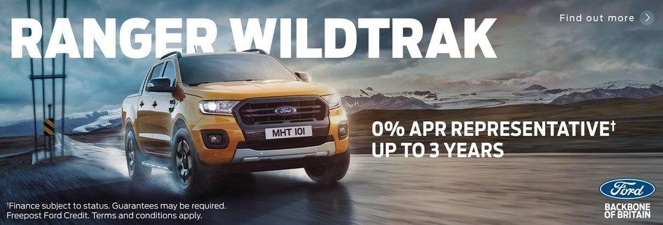 Ford Ranger Wildtrak 0 Percent Finance Offer