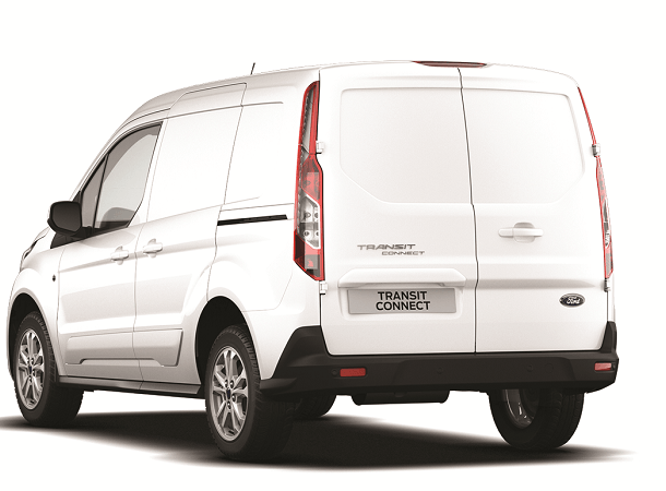 New Transit Connect SWB Limited Frozen White Rear