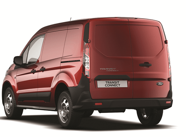 New Transit Connect SWB Base Kapoor Red Rear