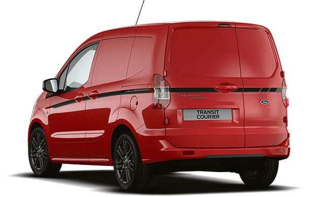 New Ford Transit Courier Sport Van Race Red Rear