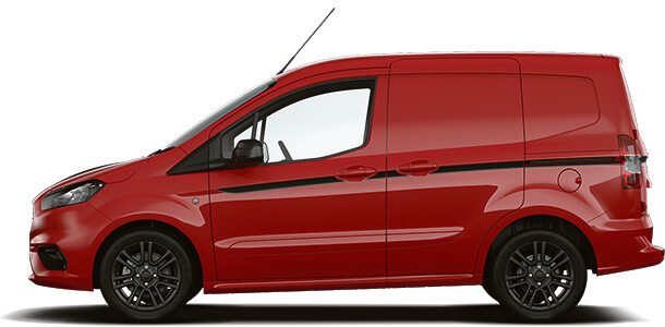 New Ford Transit Courier Sport Van Race Red Side