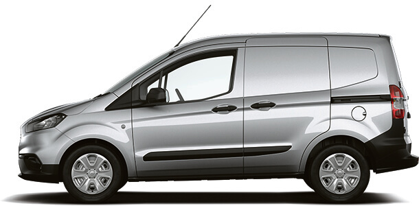 New Ford Transit Courier Trend Van Moondust Silver Side