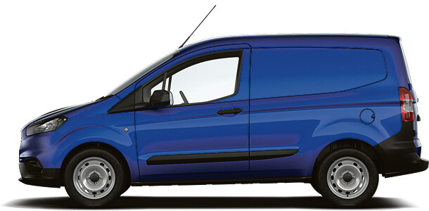 New Ford Transit Courier Base Van Deep Impact Blue Side