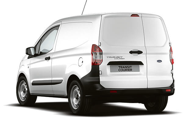 New Ford Transit Courier Base Van Frozen White Rear
