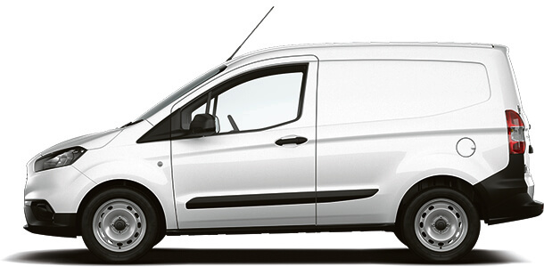 New Ford Transit Courier Base Van Frozen White Side