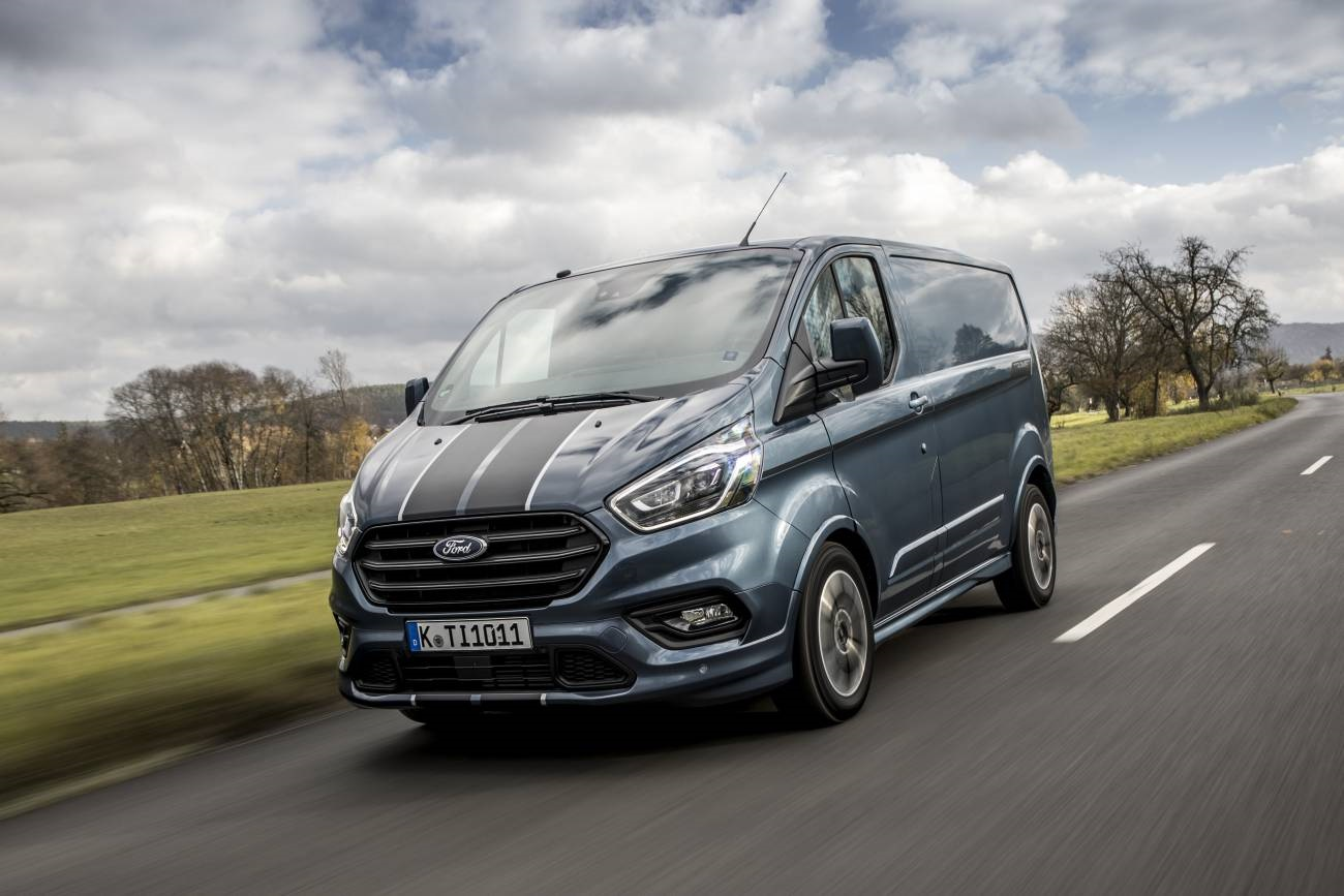 New Transit Custom Sport Van Chrome Blue