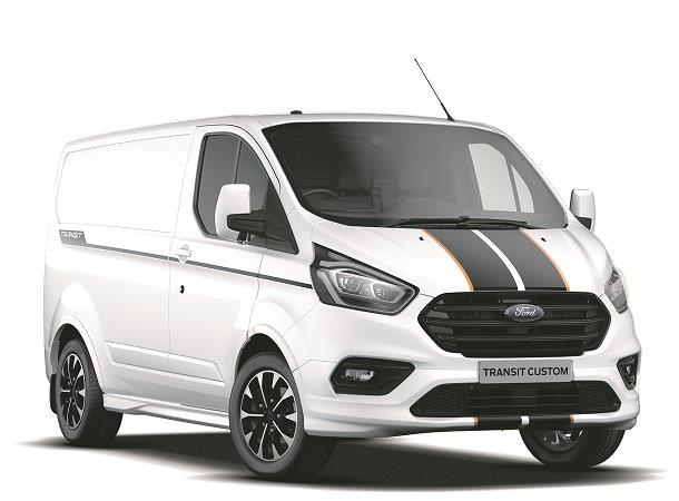 Ford Transit Custom Sport Van in Frozen White