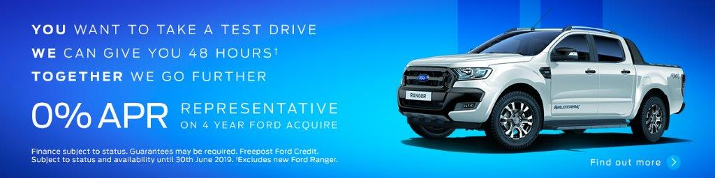 ranger 48 hour test drive - 0 percent finance