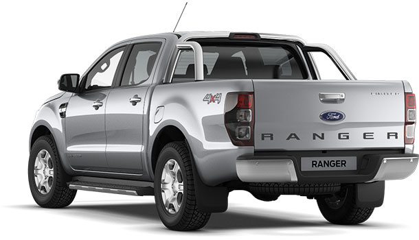 Ranger Limited Double Cab Moondust Silver Rear