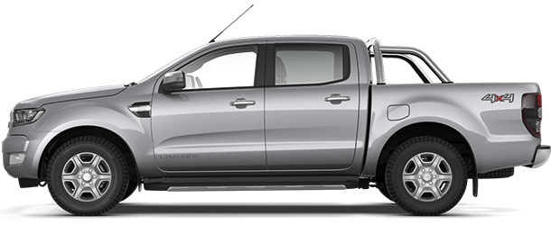 Ranger Limited Double Cab Moondust Silver Side