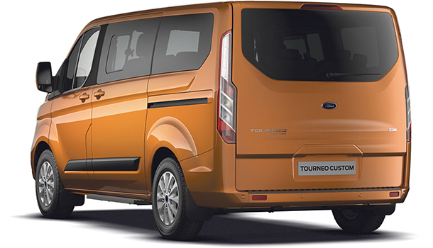 Tourneo Custom Zetec L1 H1 Orange Glow Rear