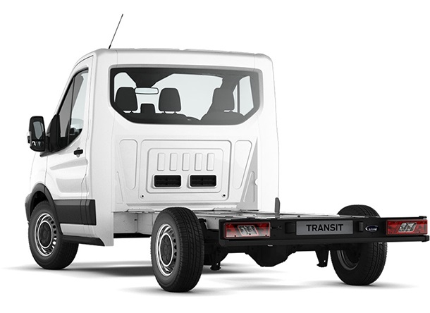 Transit Chassis Cab L1 Frozen White Rear