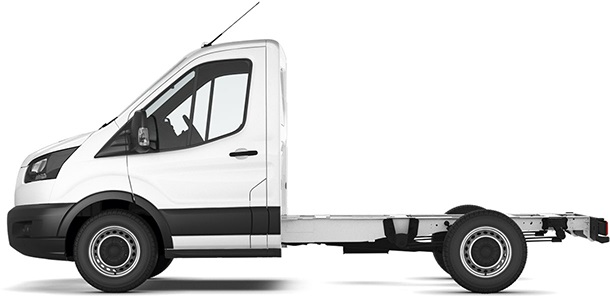 Transit Chassis Cab L1 Frozen White Side