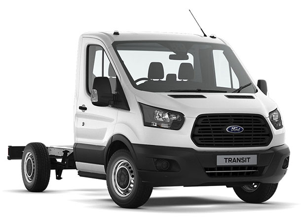 Transit Chassis Cab L2 SRW Frozen White Front