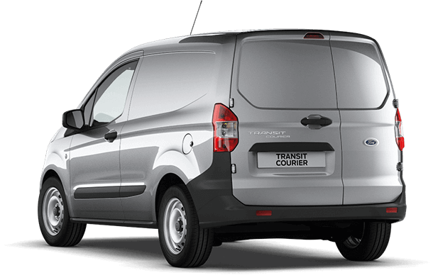 Transit Courier Base Moondust Silver Rear