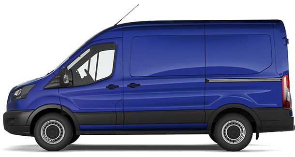 Transit Base Van L2 H2 Deep Impact Blue Side